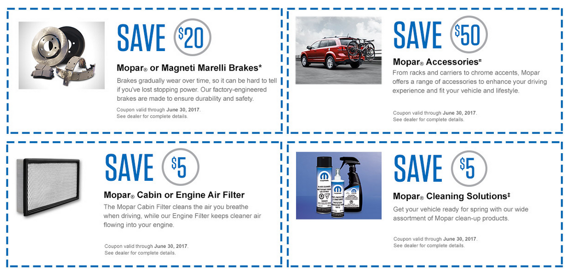 Mopar Sign up and Save Coupons
