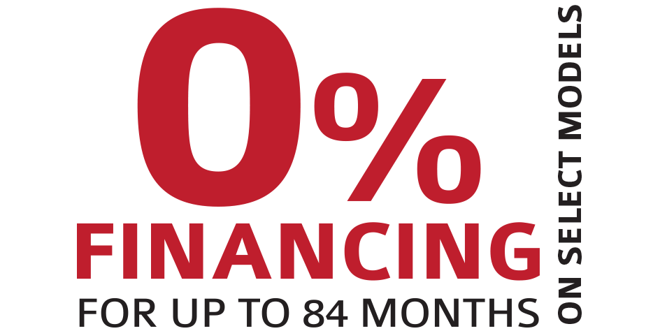 0% Financing for up to 84 months