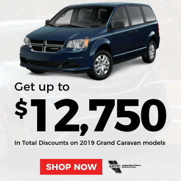 Up to $12,750 in Total Discounts on 2019 Grand Caravan Models