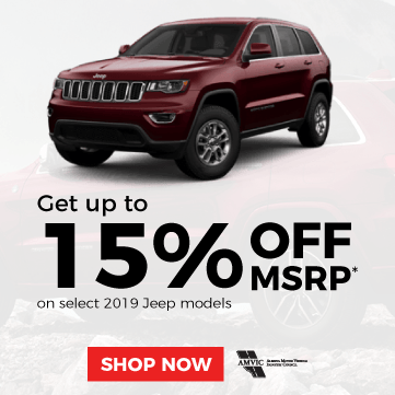 Up to 15% off MSRP on Select 2019 Jeep Models